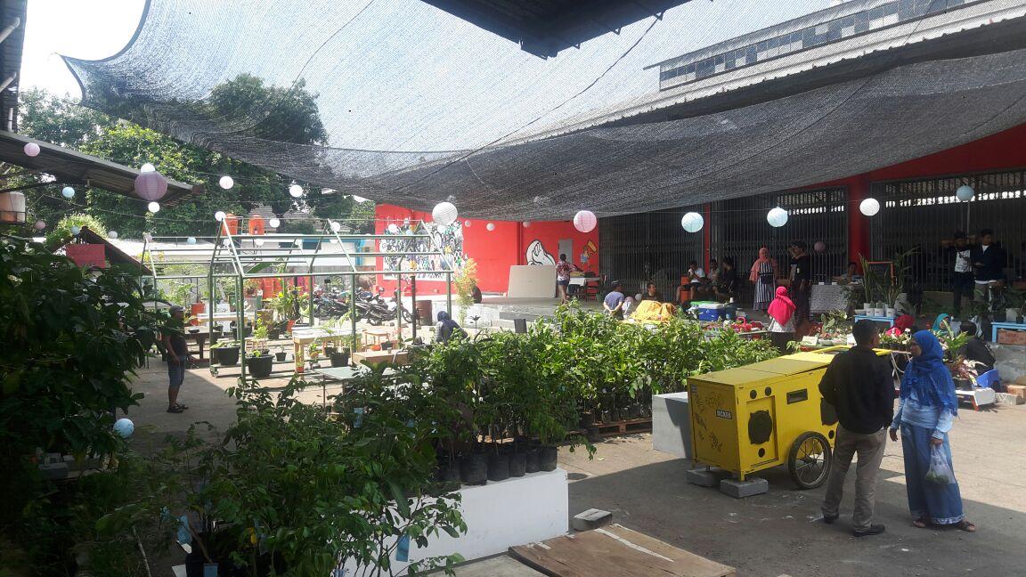 Keriaan Pasar Tani Kota di Gudang Sarinah, Pancoran, Jakarta