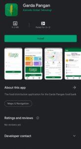 Aplikasi Sampah makanan Garda Pangan